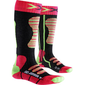 X-Socks Ski Socks Juniors Coral/Green